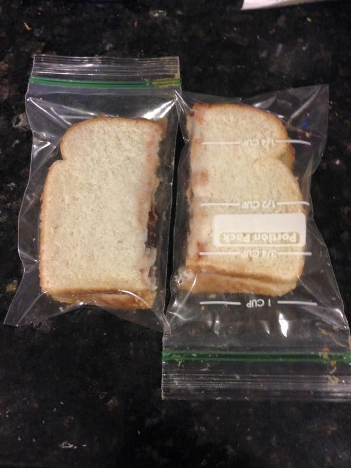 What moms do when they run out of sandwich baggies...