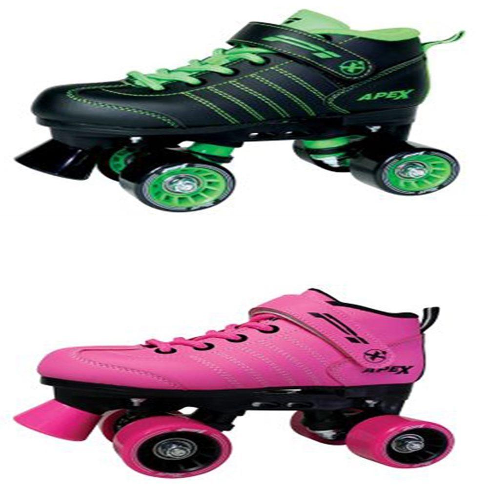 Zebra roller skates - Apex P1 Boys Girls Quad Roller Skates Rollerderby