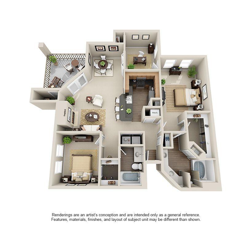 Rosemont At Olmos Park Apartments Grandview Sims House Plans Model House Plan House Blueprints