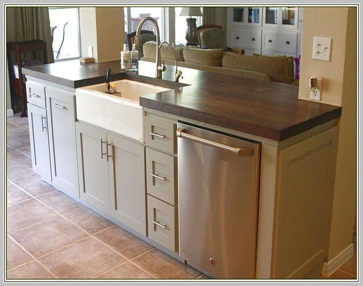 kitchen island with dishwasher