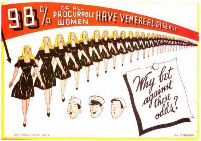 Vintage 1940's VD Ads -