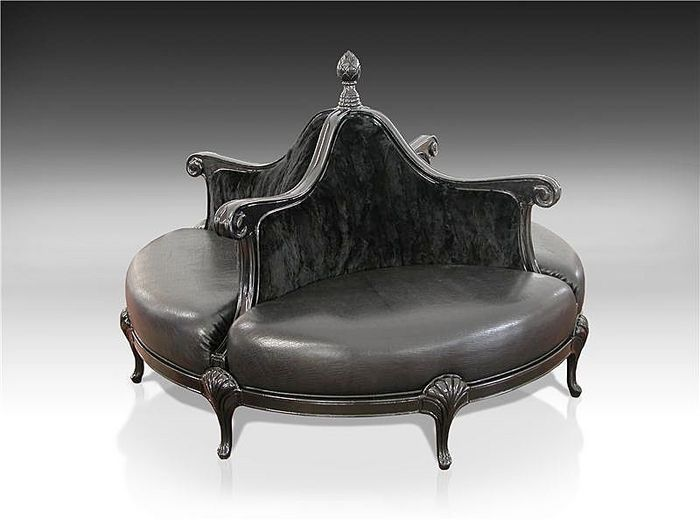 Boudoir Chair Round Settee Sofa With