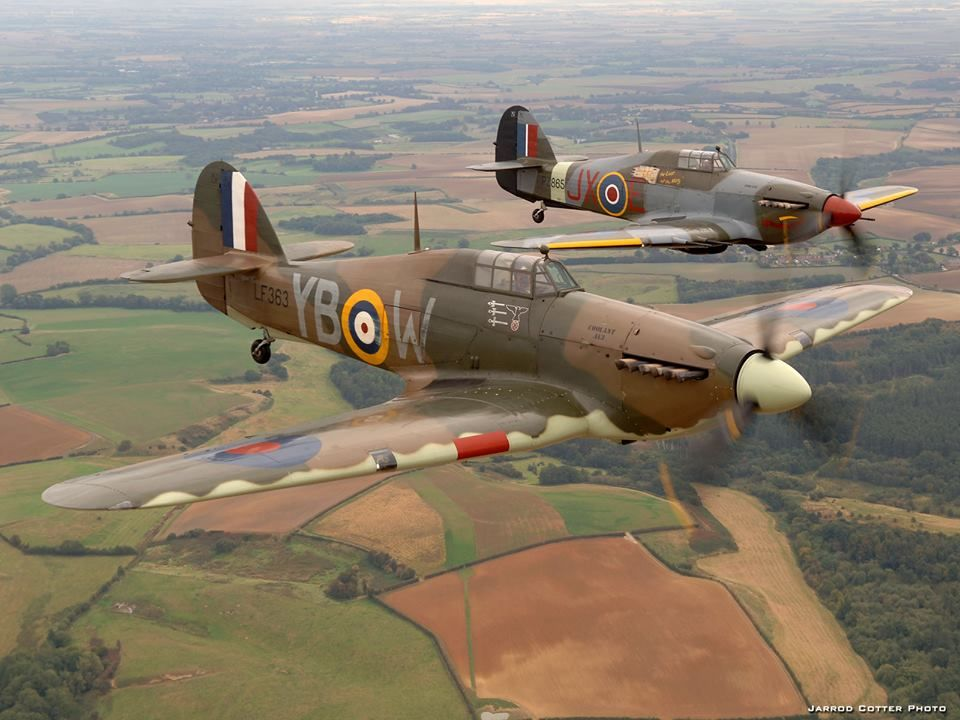 Two Hurricanes With Images Aircraft Airplane Wallpaper Hawker Hurricane