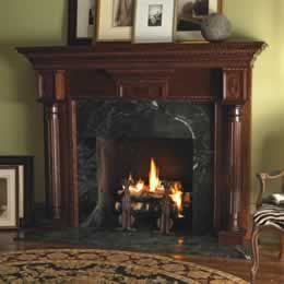 mahogany fireplace surrounds | Traditional Wood Mantel ( Sophia ...