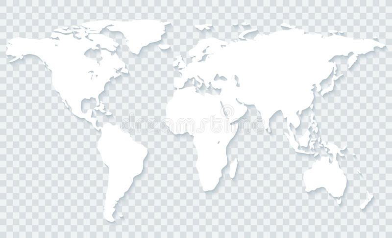 World Map On Transparent Background White World Map With Shadow On Transparent Ad Transparent Background Worl Transparent Background Illustration Map