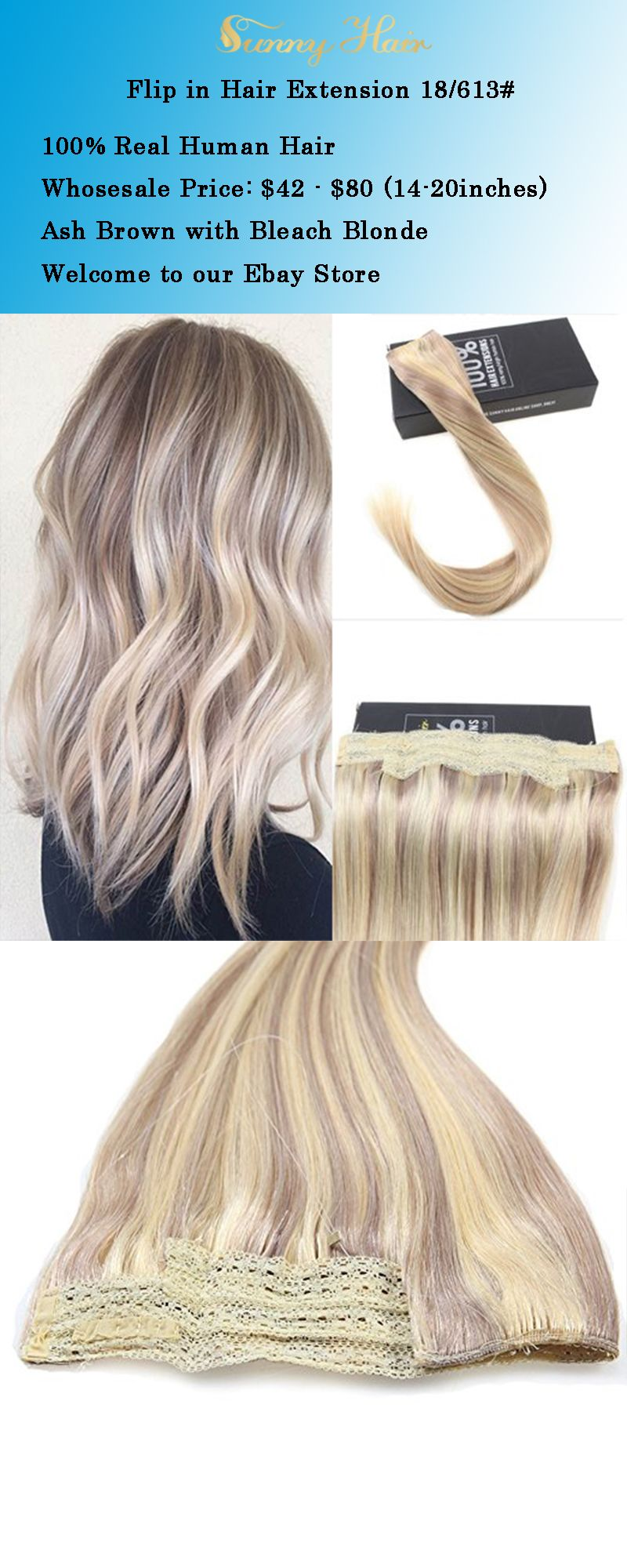 Sunny Hair Extension Ash Blonde With Caramel Blonde Hair Flip In