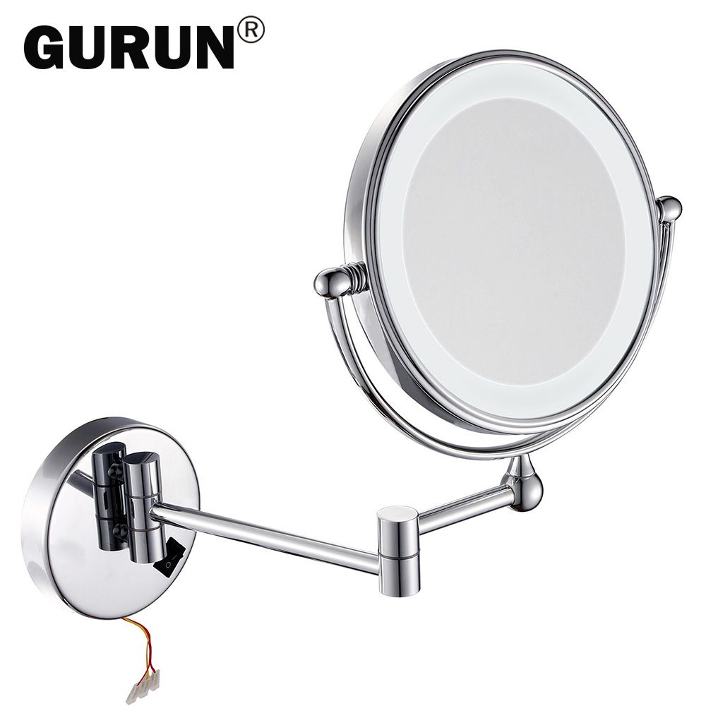 GURUN led makeup mirror with led light vanity cosmetic magnifying ...