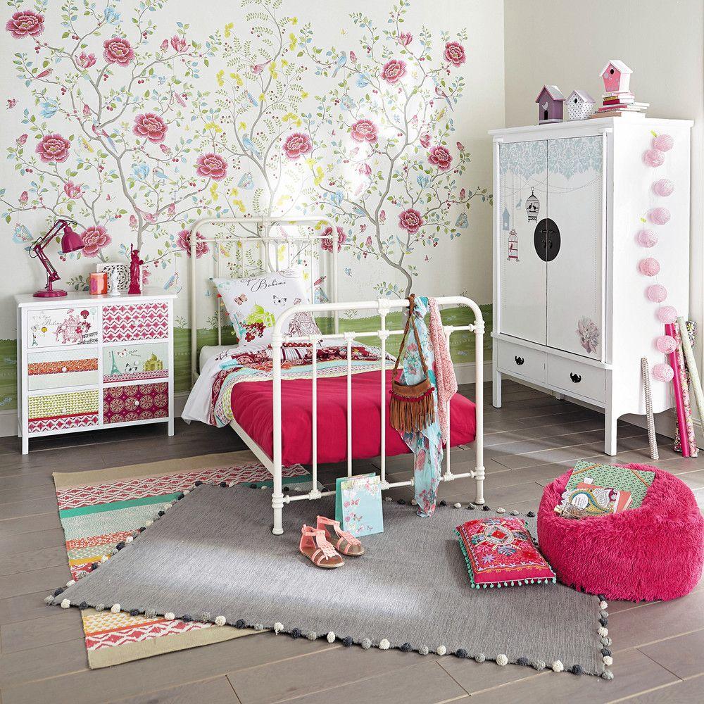 tapis en coton multicolore 120 x 180 cm maisons du monde. Black Bedroom Furniture Sets. Home Design Ideas