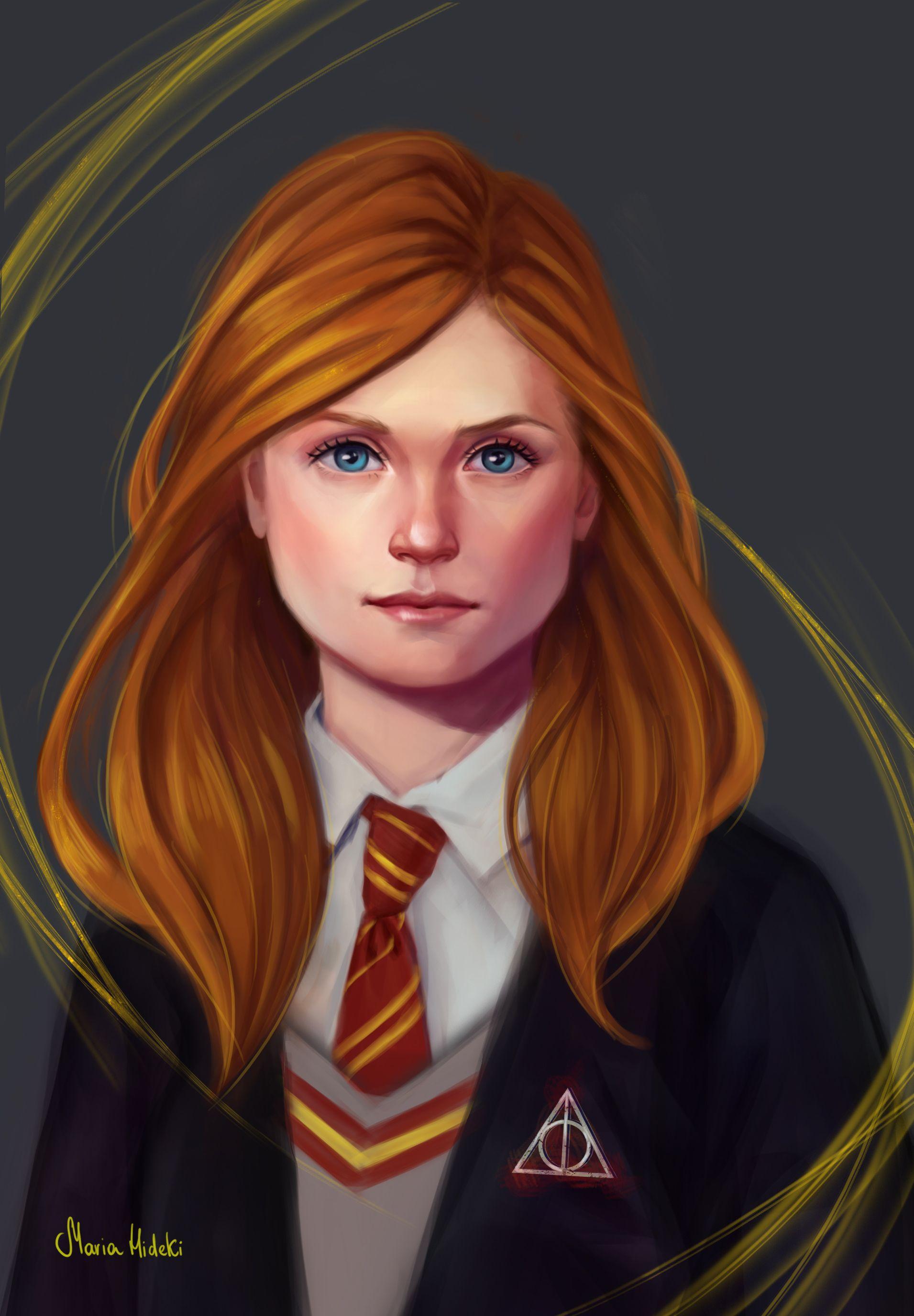 Ginny Weasley Harry Potter Ginny Harry Potter Anime Harry Potter Illustrations