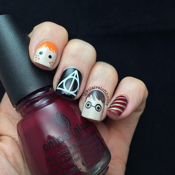 15 Harry Potter Nail Art Ideas That Are Pure Magic Liked On