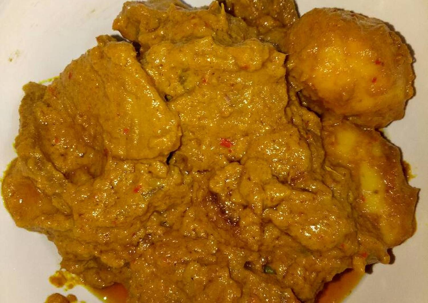 Resep Rendang Daging Bumbu Simple Oleh Msanggraini Resep Daging Jamur Resep