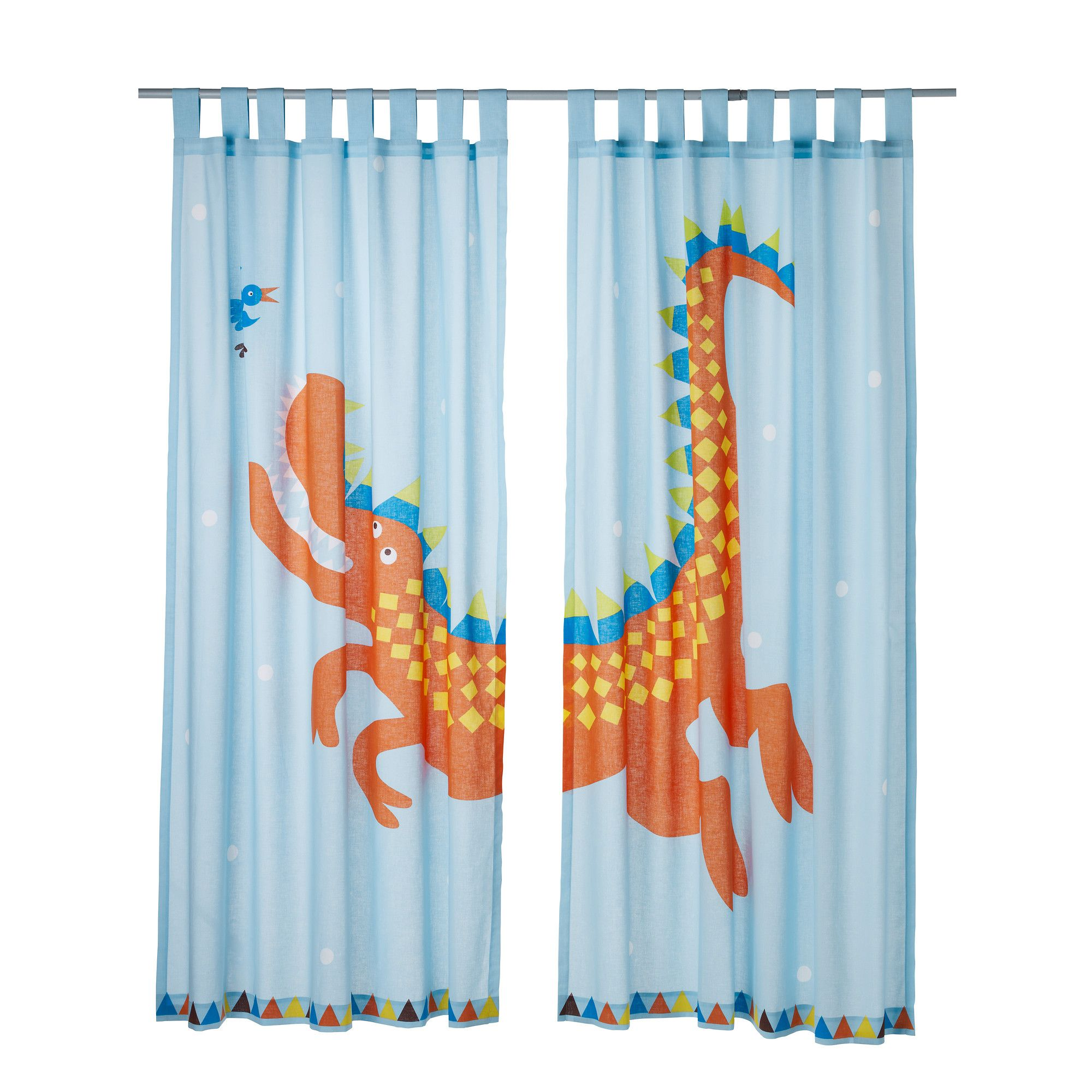 Heltokig pair of curtains ikea baby boy room goes for Boys curtain material