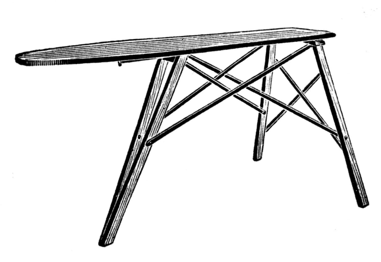 Iron Board Iron and Clipnart