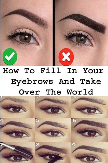 How To Fill In Your Eyebrows And Take Over The World ...