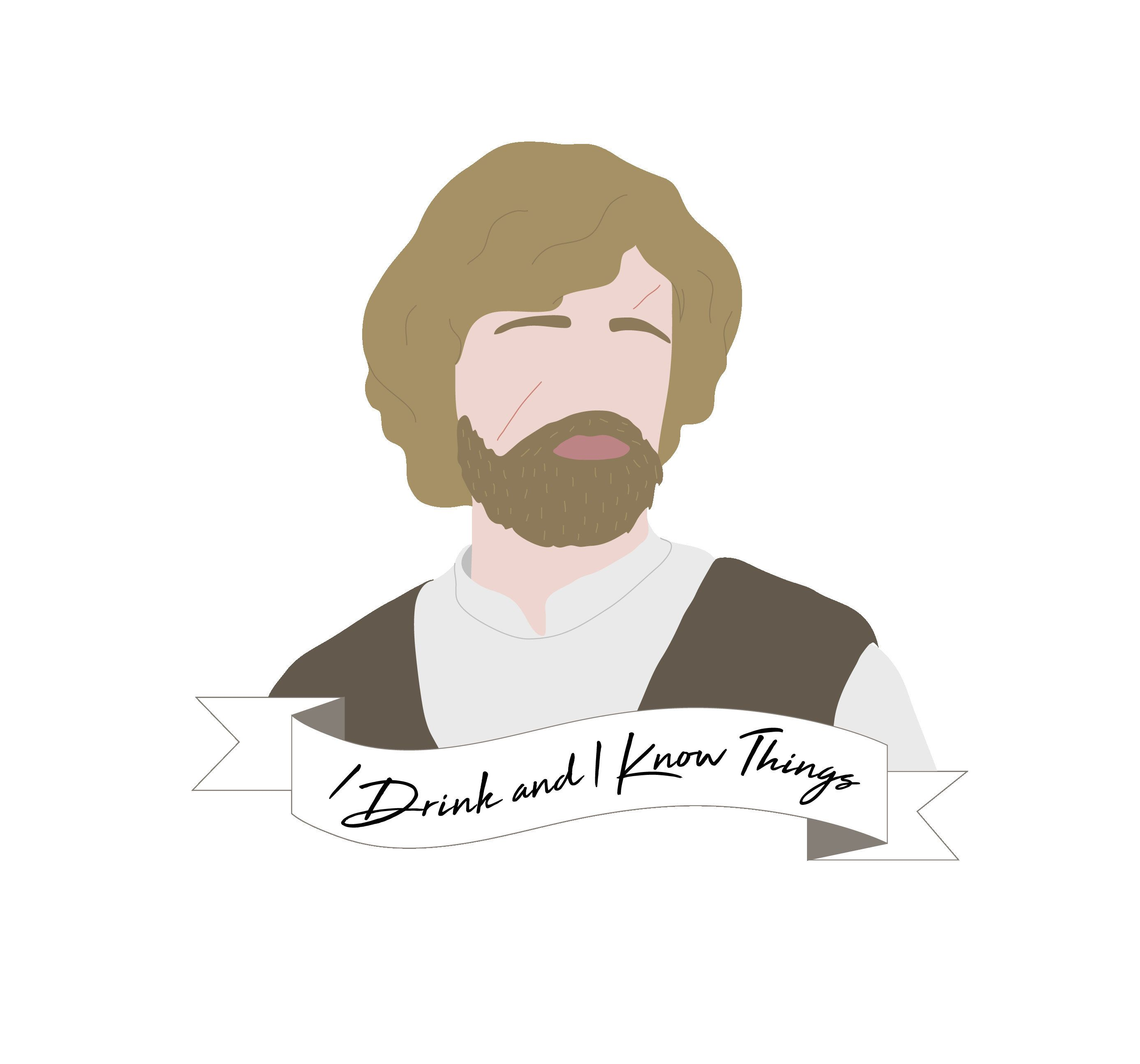 Tyrion Lannister I Drink And I Know Things Sticker In 2020