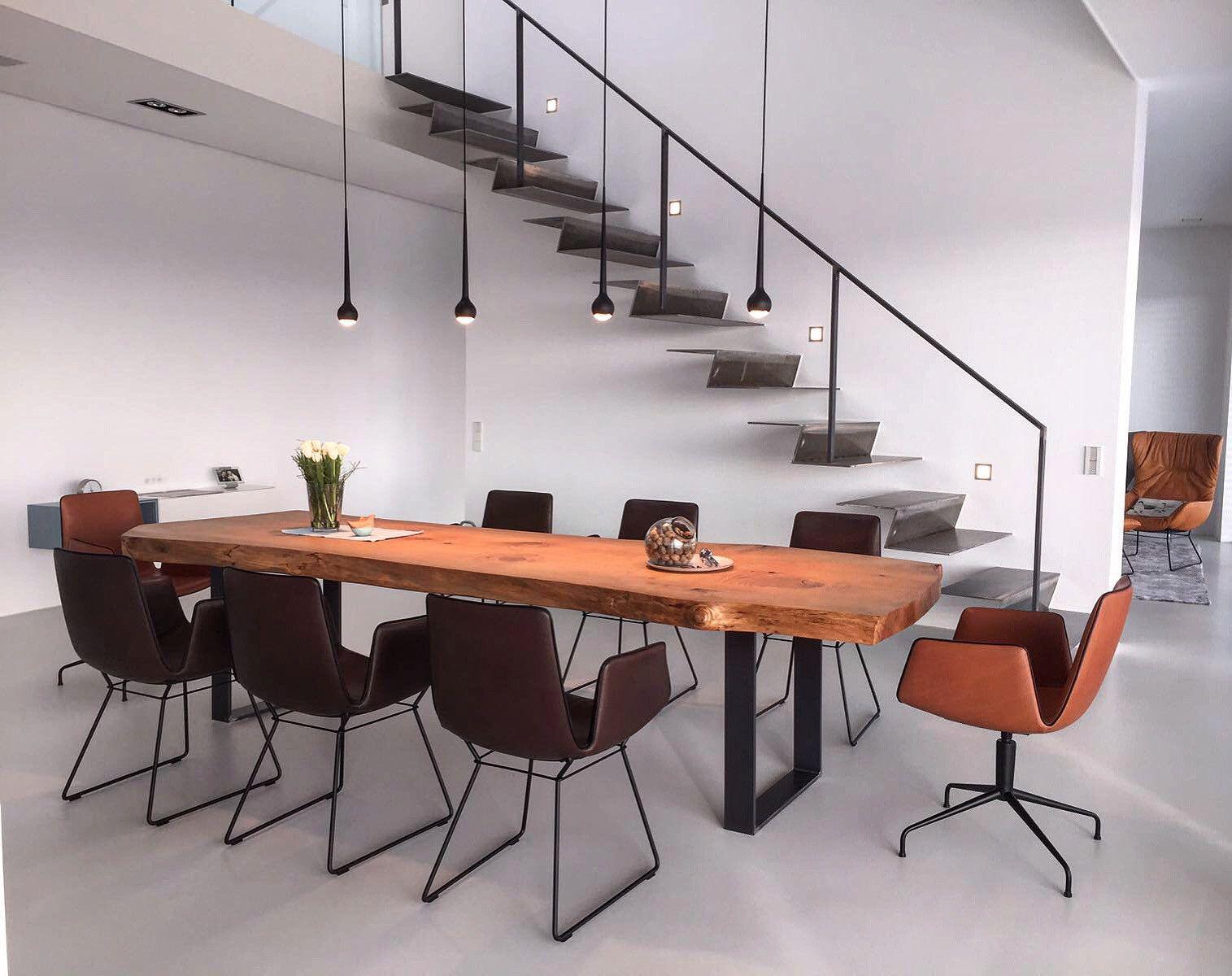 Baumtisch Aus Zedernholz Aus Dem Ganzen Stamm Geschnitten Massivholztisch Design Tisch Esszimmertisch