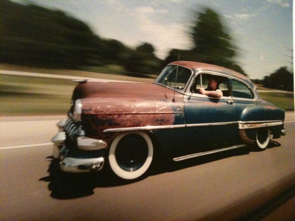1954 Chevrolet twodoor sedan. Custom cars, Rockabilly