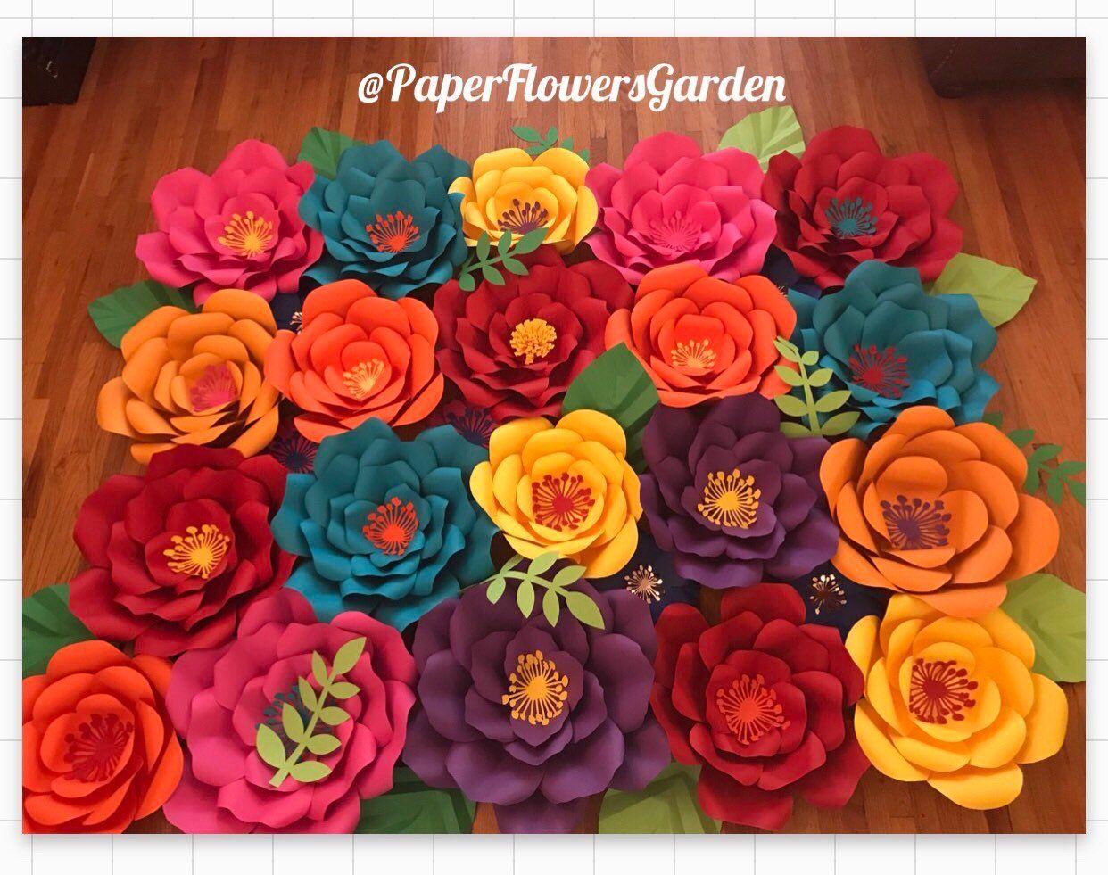 Pcs Fiesta Paper Flower Backdrop x wall in   paper flower