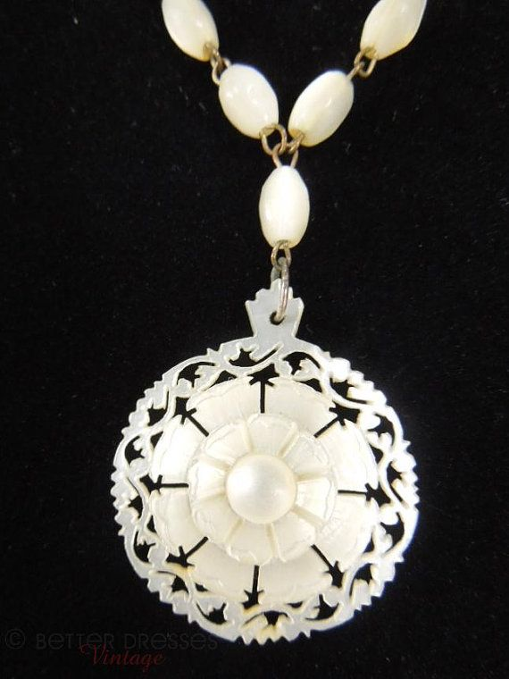 60s Mother of Pearl pin vintage jewelry 1960s MOP brooch white shell pin mother of pearl jewelry