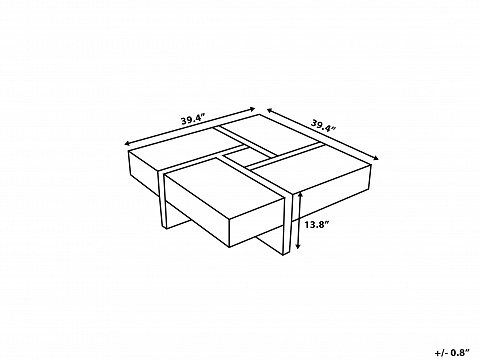Modern Coffee Table With Storage Evora 673723 Coffee Table