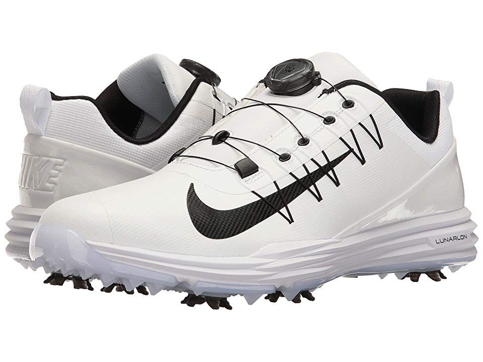 eab71f29a864 Nike Golf Lunar Command 2 BOA (White Black White) Men s Golf Shoes. Your  game reaches new heights with the Nike Golf Lunar Command 2 BOA.