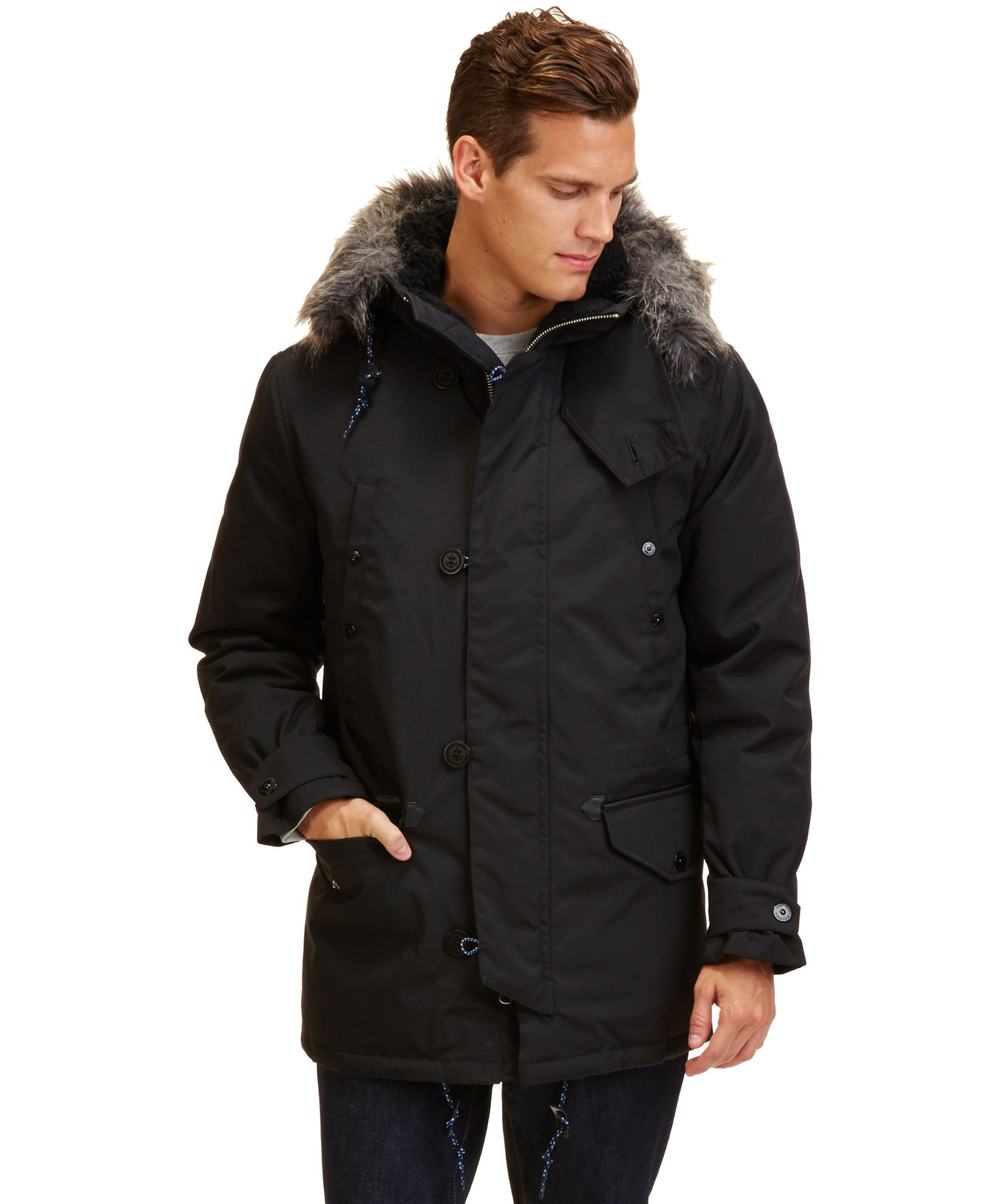 Nautica Parka With Removable Faux Fur Hood Coats Jackets Men Macy S Men S Coats And Jackets Faux Fur Hood Mens Jackets [ 2378 x 1947 Pixel ]