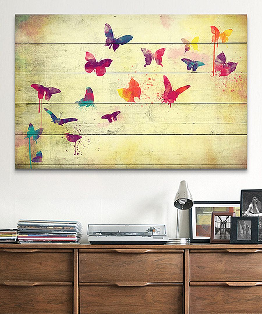 Look at this Flutter Away Wrapped Canvas on #zulily today!
