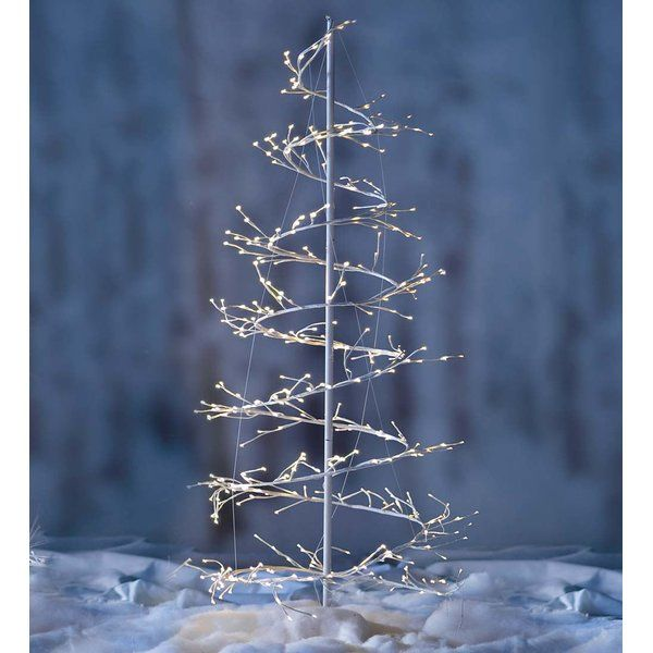 """When Do U Take Down A Christmas Tree: Spiral Twinkle 6'2"""" White Artificial Christmas Tree With"""