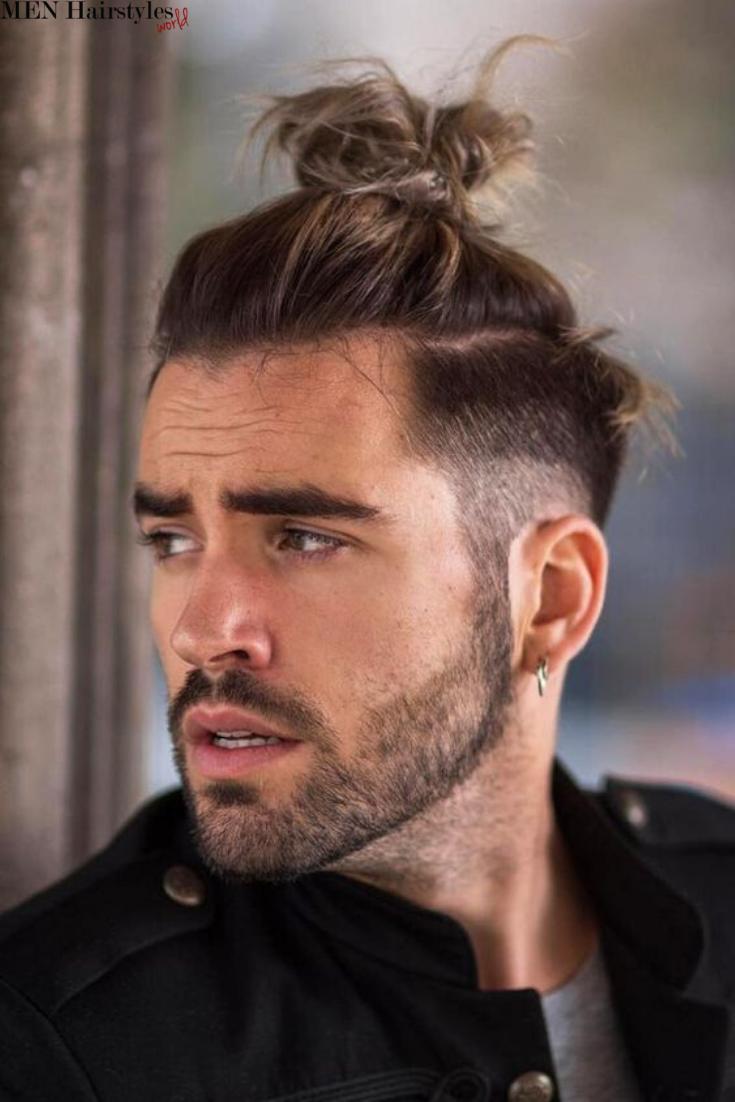 Cool Top Knot Styles For Men Man Bun Hairstyles Man Bun Haircut Haircuts For Men