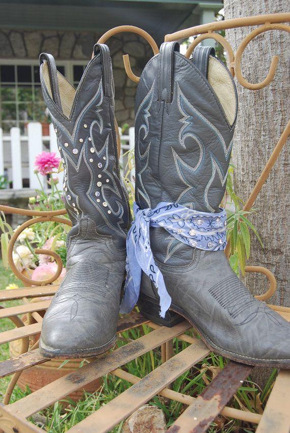 73f7922066d Custom Rhinestone cowboy boots by LuckyHaylos on Etsy, $75.00 ...