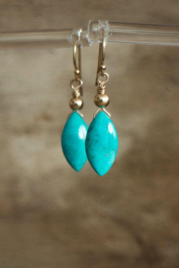 Gold Filled Earring Gemstone Earring Turquoise Earring