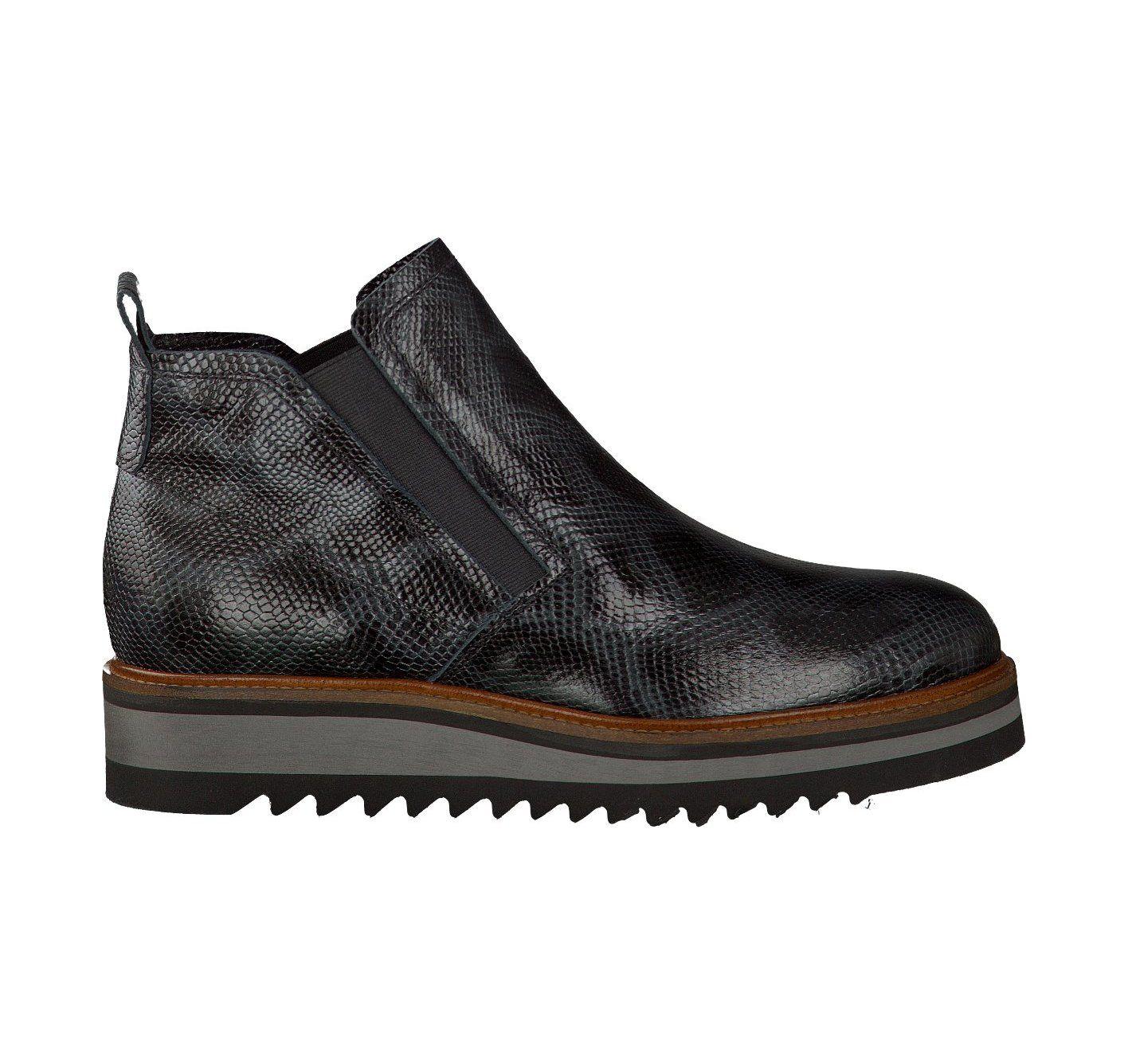 72c50f3531610f Maripé Flache Boots für Damen (Grau Schwarz)