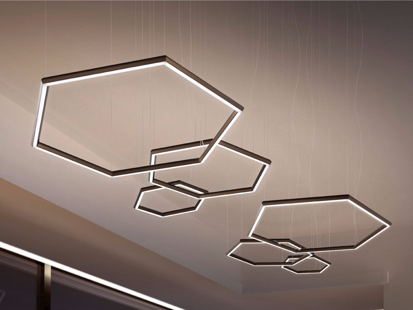 Led Pendant Lamp Poly Esagono By Olev Pendant Lamp Design Pendant Lamp Lamp Design
