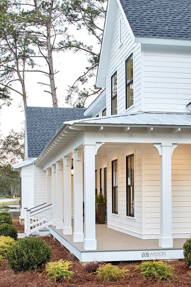 Front Porch Addition Farmhouse Front Porches House: Modern Farmhouse With Front Porch (Home Bunch
