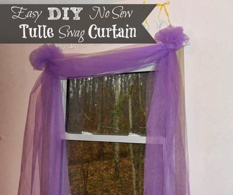 Outnumbered 3 To 1: DIY Easy No Sew Tulle Swag Curtain