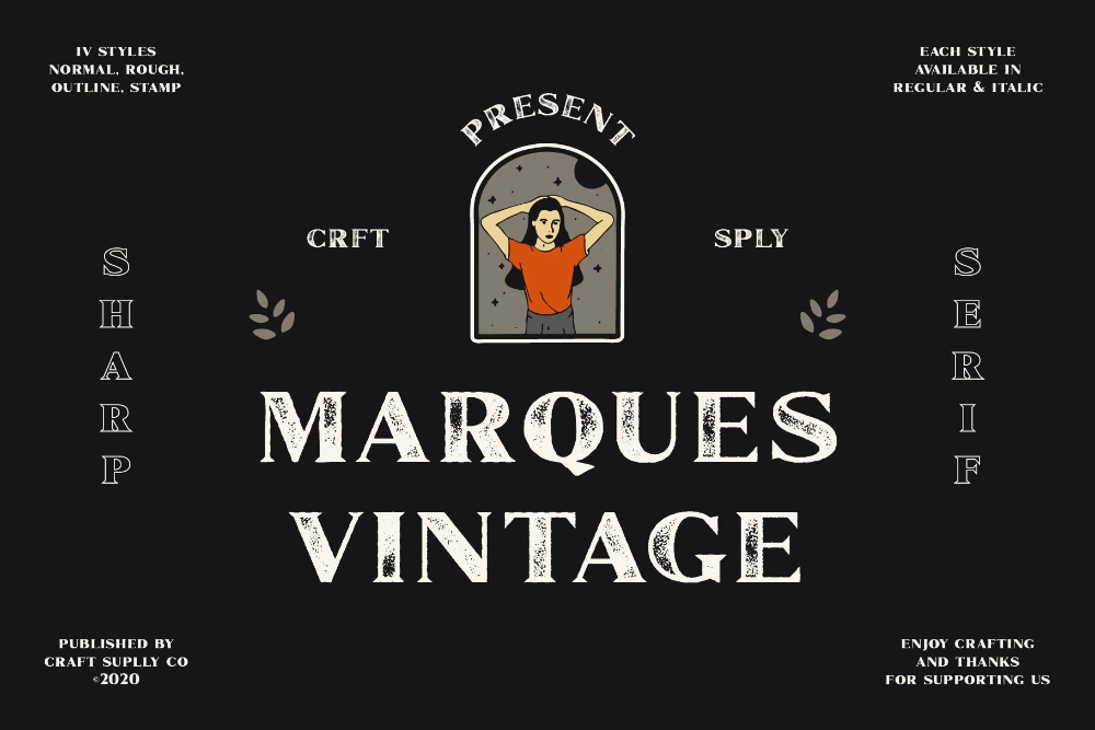 Marques Vintage Font Family Extras In 2020 Vintage Fonts All Caps Font Logo Fonts