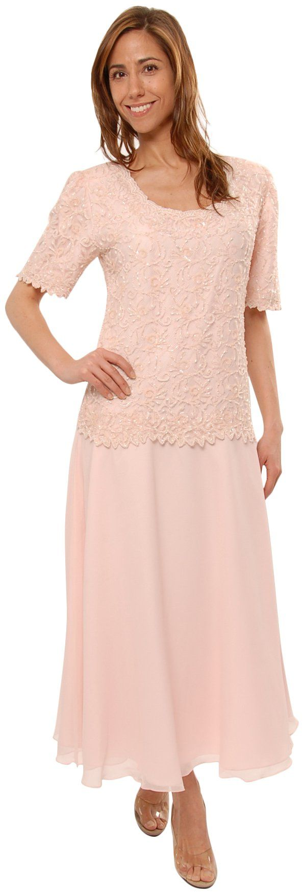 Mother of the Bride Great Tea Length Dress in Pink | Amazon.com ...