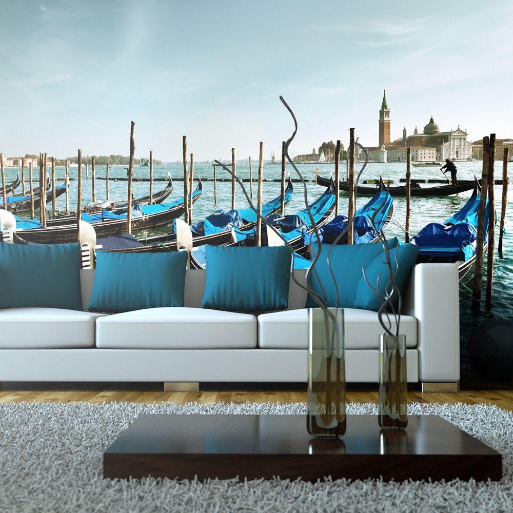 Artgeist Papier Peint Xxl Gondoles Du Grand Canal Venise Taille L 550 X H 270 Cm Lestendances Fr Papier Peint Papier Peint Xxl Parement Mural
