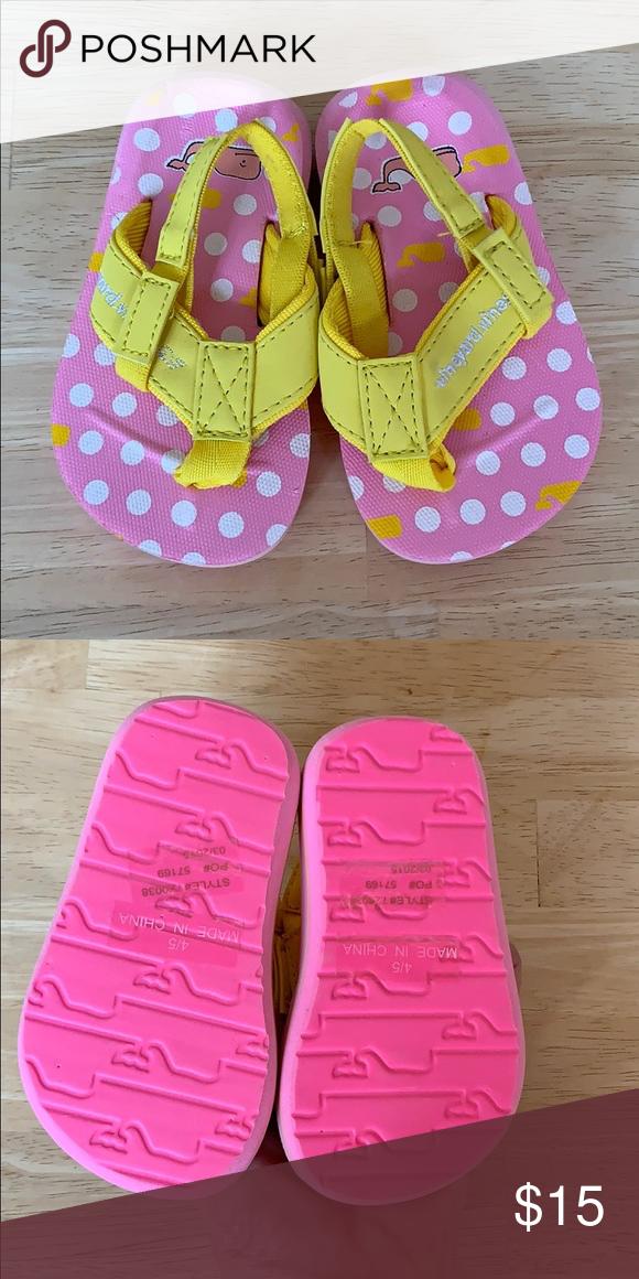 infant flip flops size 4