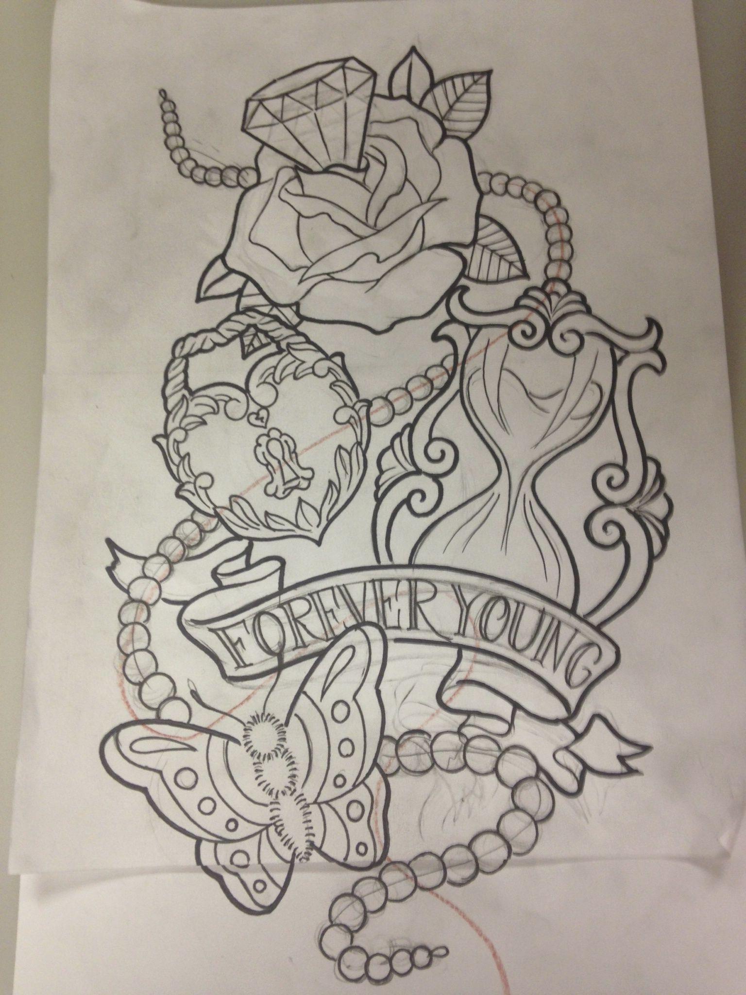 Forever Young Wonderland Tattoo Tattoo Stencils Tattoo Drawings