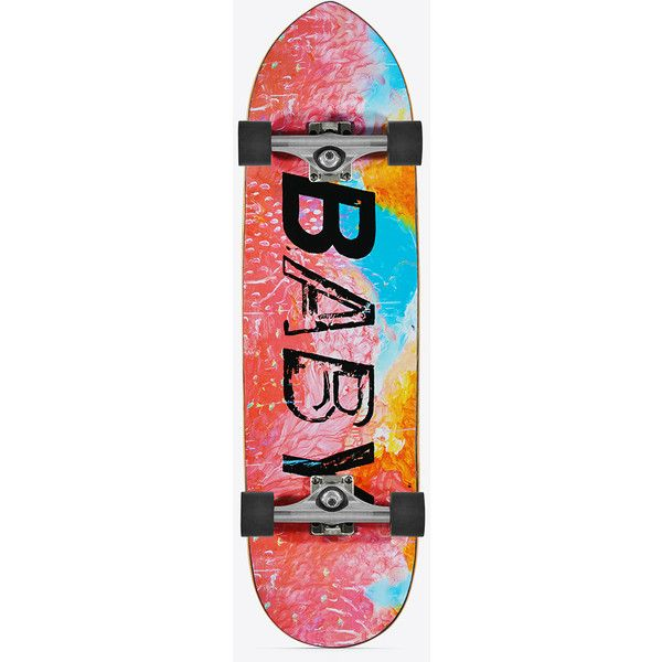 Saint Laurent Skate Baby Punk Point Skateboard In Multicolor Printed Maple Wood Ysl Com Skateboard Saint Laurent Skate