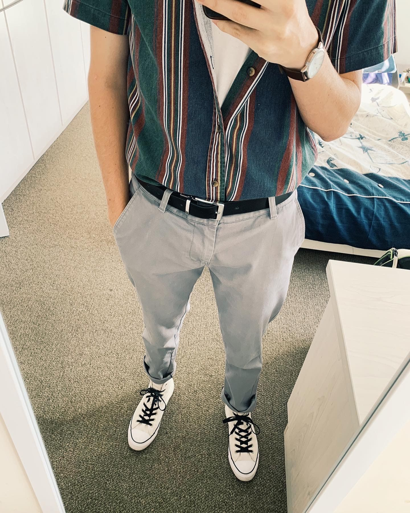 2020 Outfit Style For Men Mens Trendy Outfits Converse Men Outfit Mens Outfits [ 1800 x 1440 Pixel ]