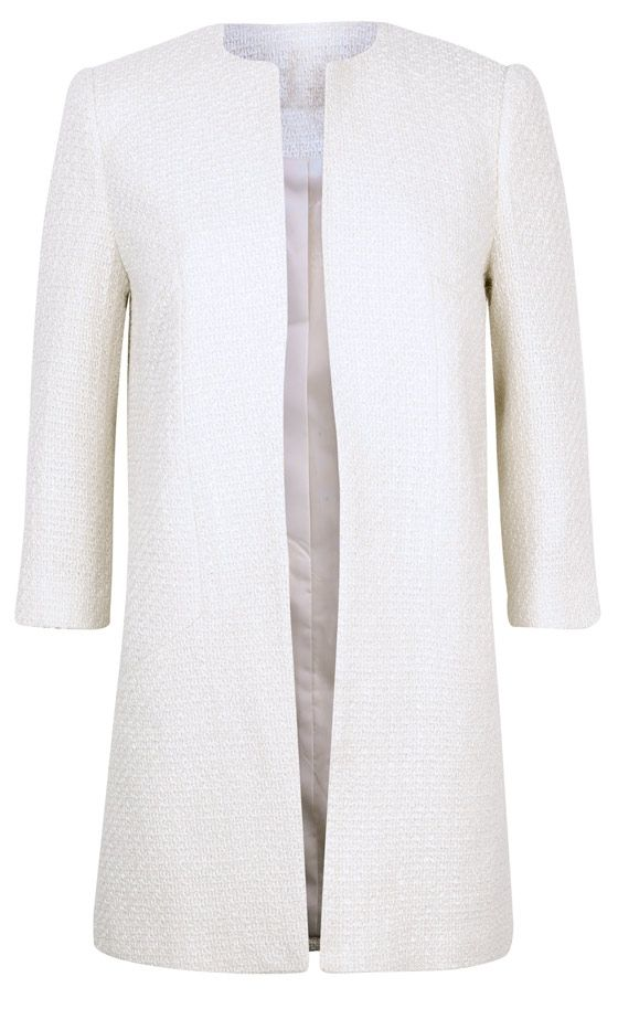 e2c784f0c7 Primark SS13 White Collarless Boucle Coat