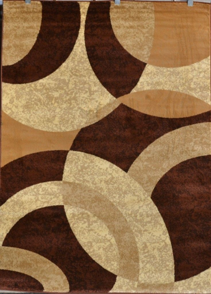 Brown beige black modern geometric contemporary area rug for Red area rugs contemporary