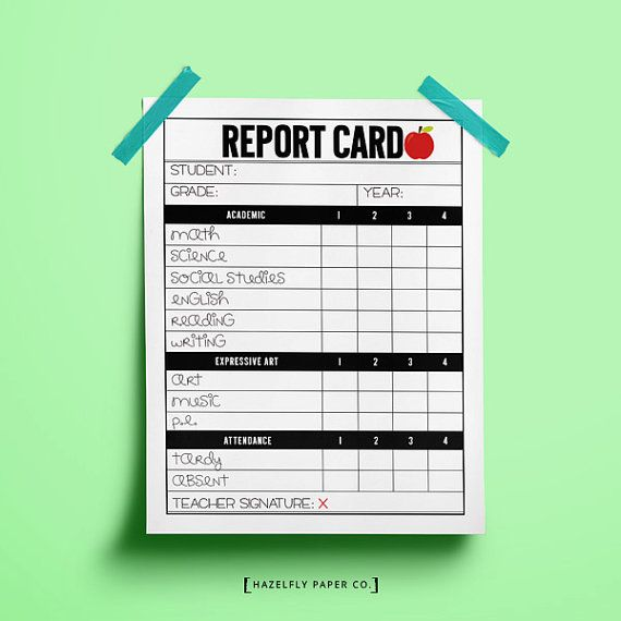 Kids Will Enjoy Creating Play Report Cards While Pretending To Be A Teacher The Printable Teacher Report C School Report Card Teacher Printable School Teacher