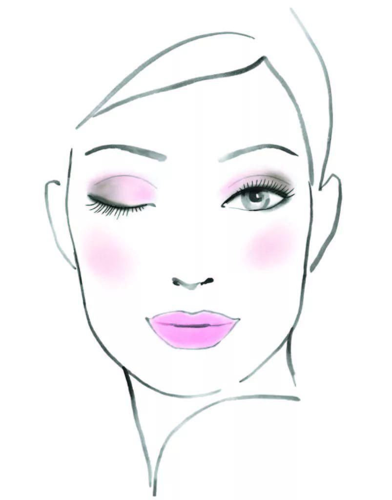 картинки для макияжа для распечатки при