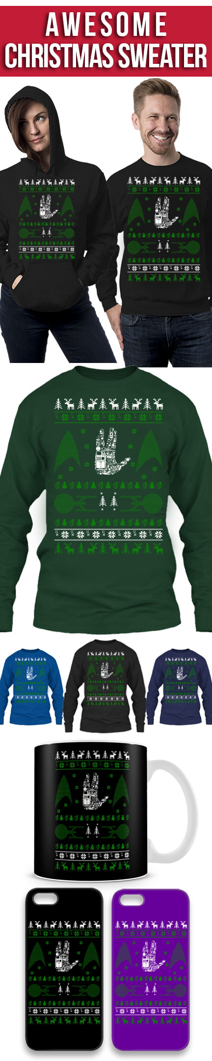 limited edition for star trek fans click the image to buy it now ugly christmas sweaterugliest