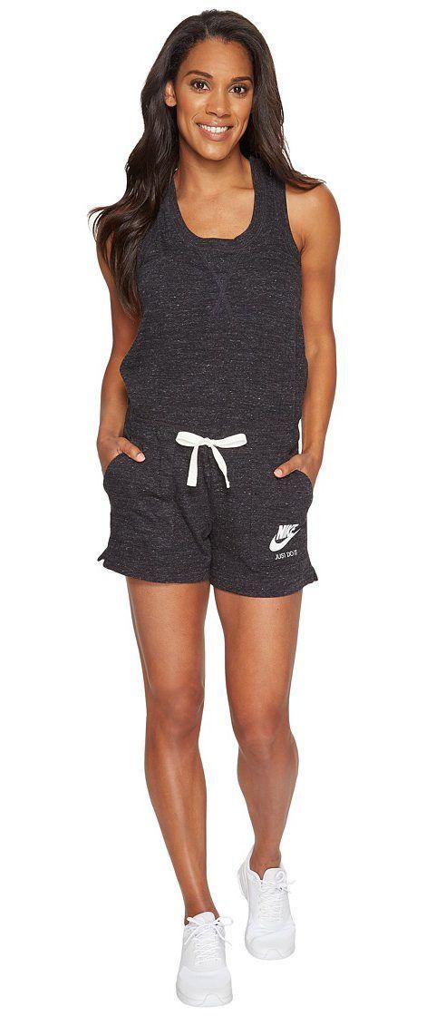 ec614a34e02 Nike Sportswear Vintage Romper (Black Sail) Women s Jumpsuit ...
