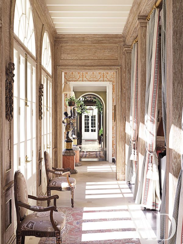 Richard Keith Langham Traditional Staircase Hallway Designs