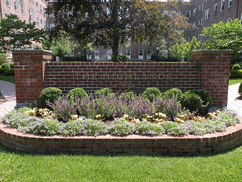 brick sign landscaping